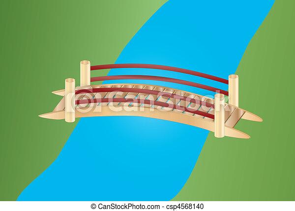 Pequeño puente sobre un arroyo - csp4568140
