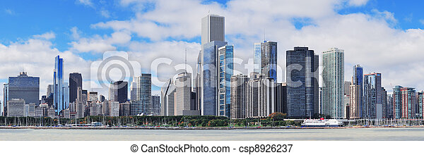 Un panorama urbano de Chicago - csp8926237