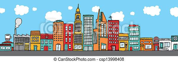 Colorido cielo de la ciudad - csp13998408