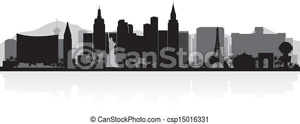 Silueta de las Vegas - csp15016331