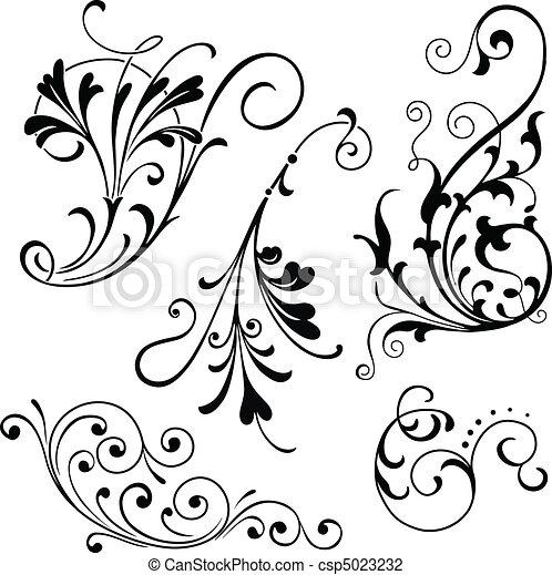 Pergaminos florales - csp5023232