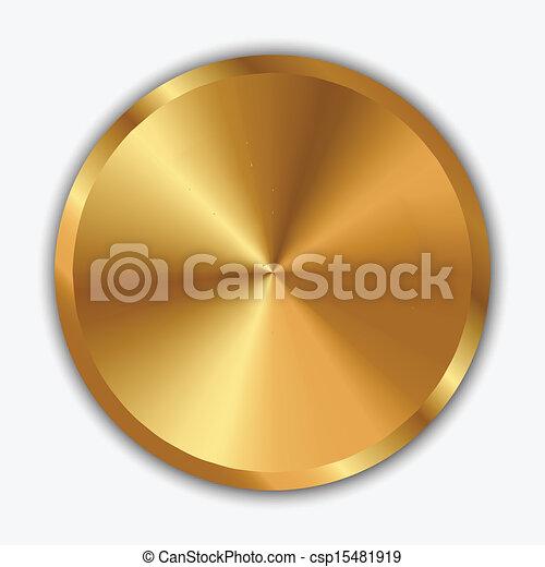 Ilustración del vector de la perilla de oro - csp15481919