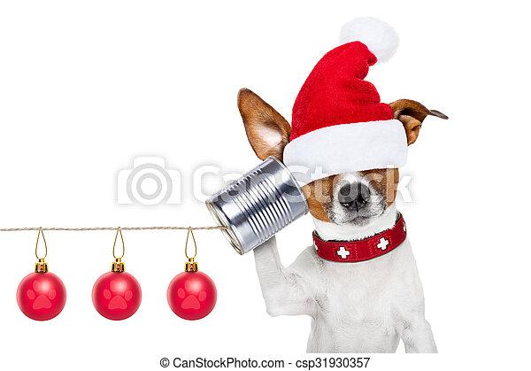 Perro al teléfono - csp31930357