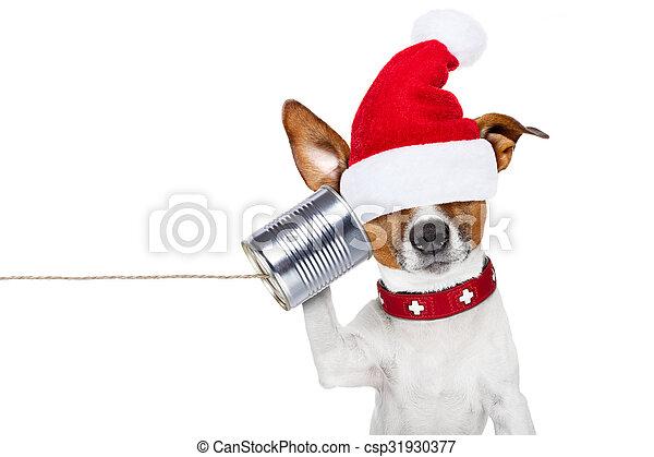 Perro al teléfono - csp31930377