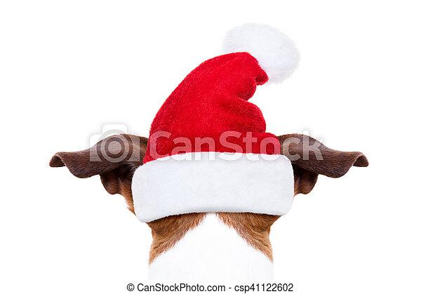 Perro navideño de Santa - csp41122602
