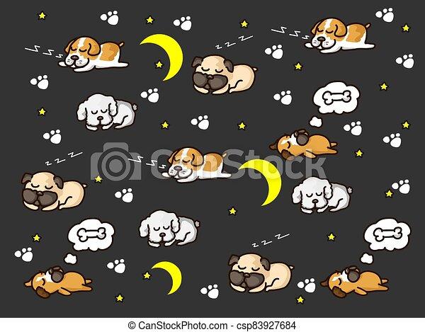 perro, soñoliento - csp83927684