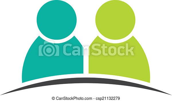 Dos amigos. Grupo de personas - csp21132279