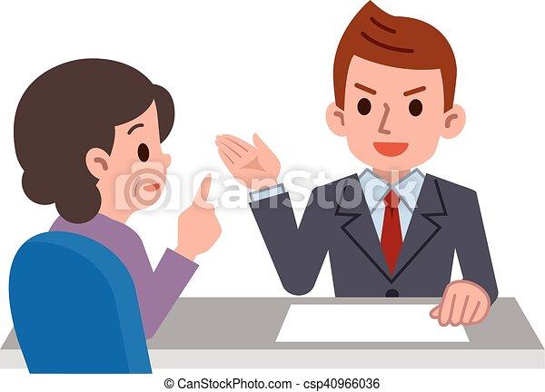 Persona que consulte en la recepción - csp40966036
