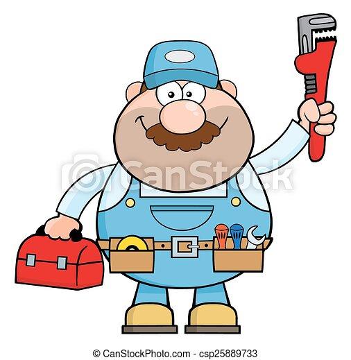 Personaje de dibujos de Handyman - csp25889733