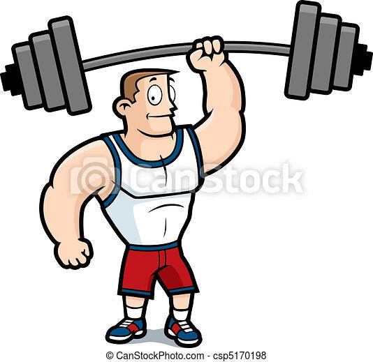 Levantando pesas - csp5170198