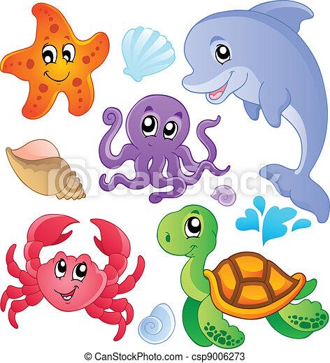 Pescados marinos y animales recolectan 3 - csp9006273