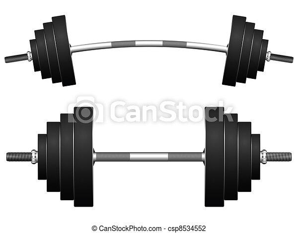 Peso contra blanco - csp8534552