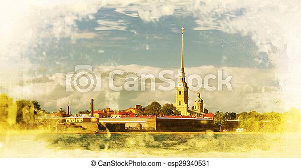 San Petersburgo. Peter y Paul Fortaleza - csp29340531