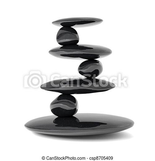 Piedras Zen balance concepto - csp8705409