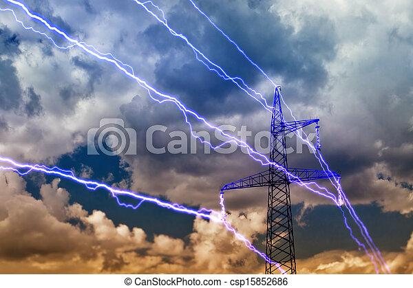 Pilón de electricidad - csp15852686