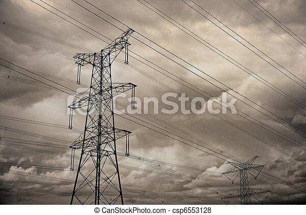 Pilón de electricidad - csp6553128