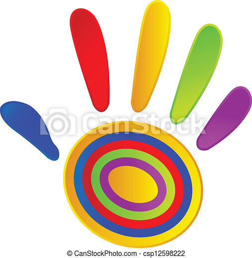 Pintada a mano con colores vivos - csp12598222