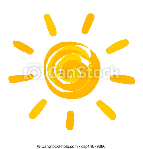 El sol pintó ilustración - csp14679860