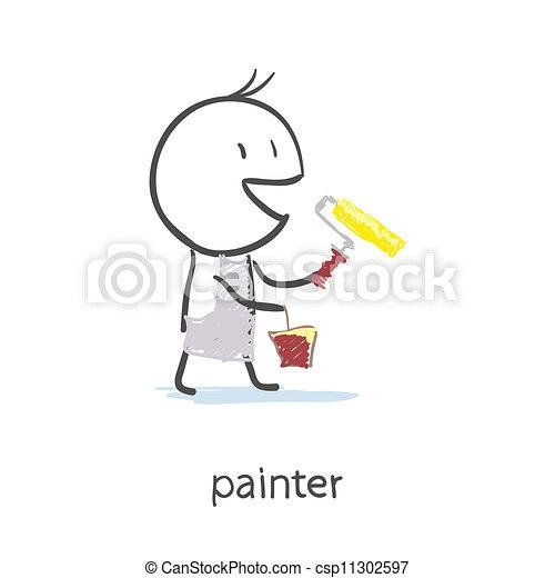 Pintor - csp11302597
