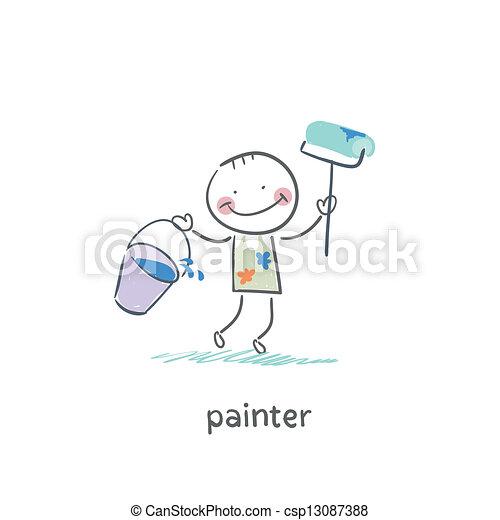 Pintor - csp13087388