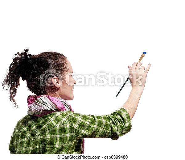 Pintor femenino - csp6399480