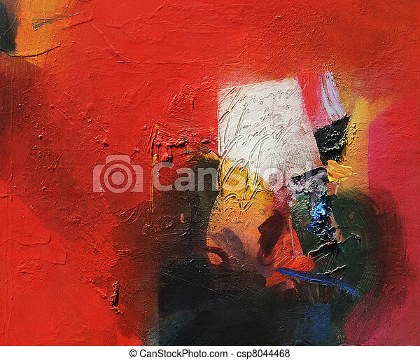 Pintura abstracta - csp8044468