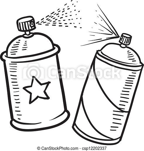 La pintura en spray puede dibujar - csp12202337