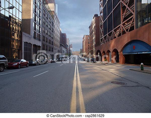 Calle Pittsburgh City - csp2861629