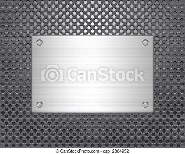 Placa de metal - csp12864952