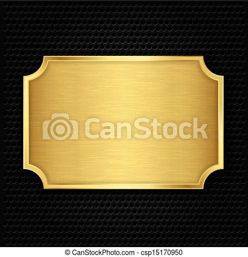 Placa de textura de oro, vector ilustrado - csp15170950