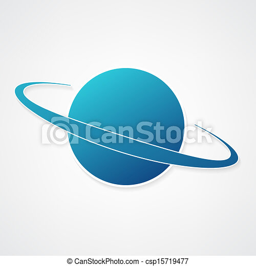 El icono azul del planeta - csp15719477