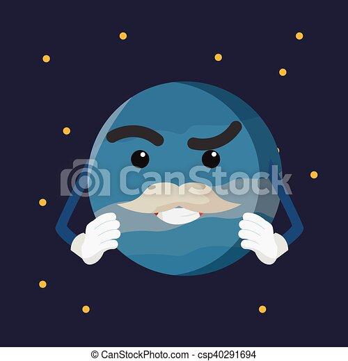 Diseño de ilustración del planeta Urano - csp40291694