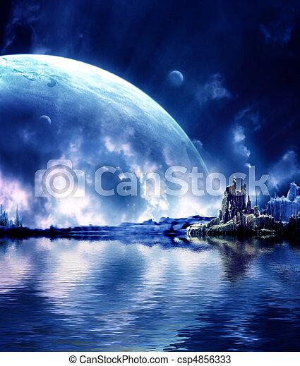 Landscape en planeta de fantasía - csp4856333