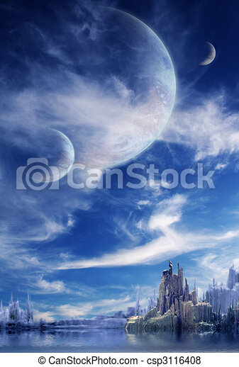 Landscape en planeta de fantasía - csp3116408