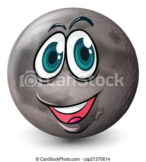 Un planeta gris con cara - csp21370614