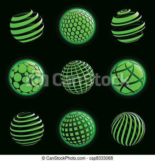 Los iconos tecnológicos del planeta. - csp8333068