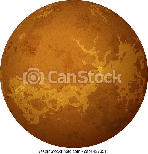 Planeta Venus, aislado en blanco - csp14373511