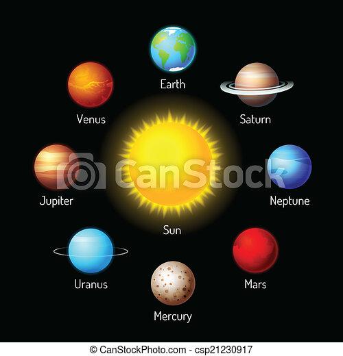 Planetas iconos - csp21230917