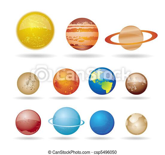 Planetas y sol - csp5496050