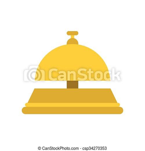 Recepción de campana icono plano - csp34270353