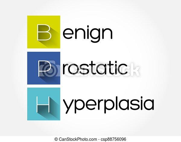 plano de fondo, benigno, prostatic, concepto médico, -, bph, hyperplasia, siglas - csp88756096