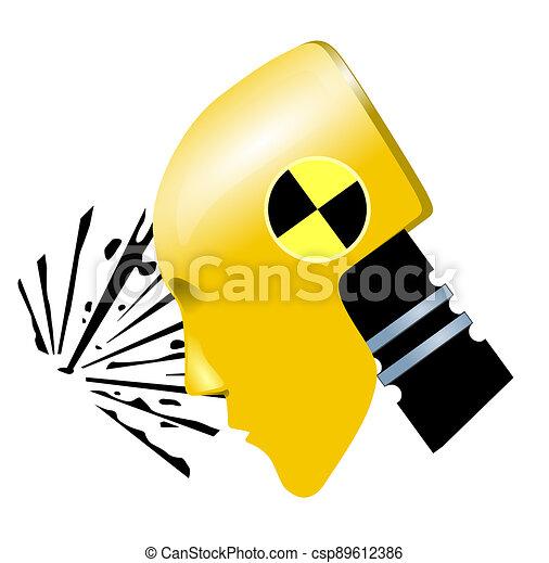 plano de fondo, corte, vacío, prueba, -, neutral, choque, afuera - csp89612386