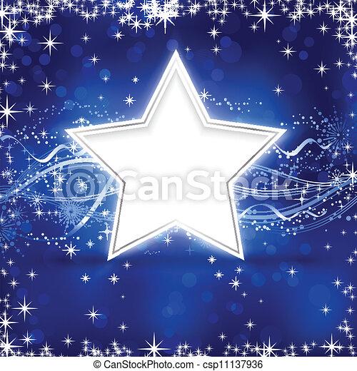 Una estrella de Navidad azul - csp11137936