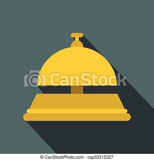 Recepción de campana icono plano - csp33315327