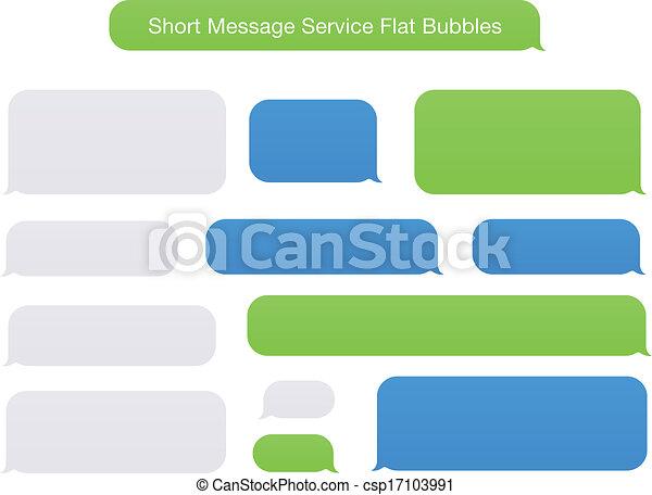 Servicio de mensajes cortos burbujas planas - csp17103991