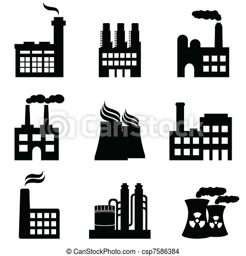 Edificios industriales, fábricas y plantas de energía - csp7586384