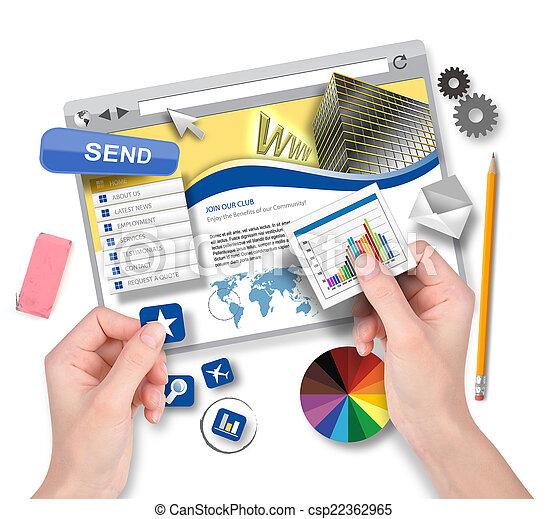 Creando plantilla web con diseñador gráfico - csp22362965
