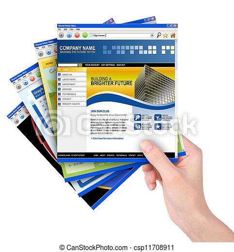 La página web de mano tiene templarios - csp11708911