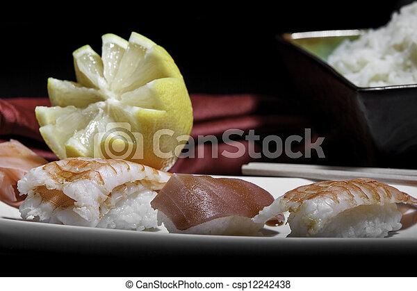 Plata de sushi variado - csp12242438