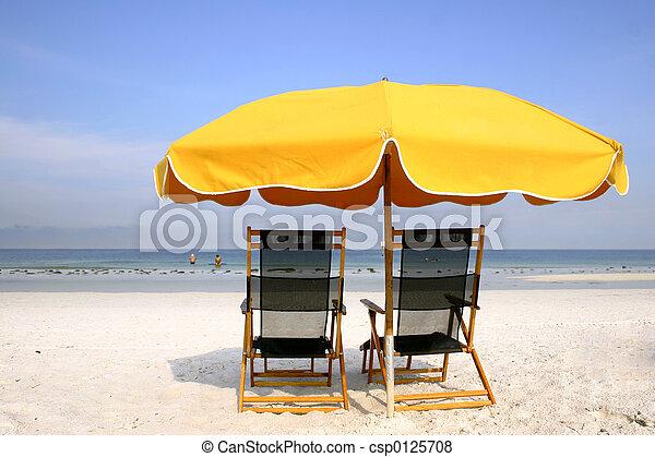 Brolly de la playa amarilla - csp0125708